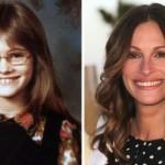 Dentucinha e de óculos, assim era Julia Roberts na infância. (Foto:Divulgação)