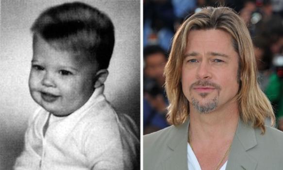 Brad Pitt era uma fofura quando bebê. (Foto:Divulgação)