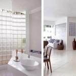 Os tijolos de vidro melhoram a iluminação do espaço. (Foto:Divulgação)