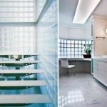 Os tijolos de vidro também contribuem com a sensação de amplitude. (Foto:Divulgação)