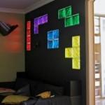 Tijolos de vidro simulam tetris. (Foto:Divulgação)