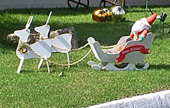 Decoraç u00e3o de jardim para natal fotos, dicas # Decoração De Natal Jardim
