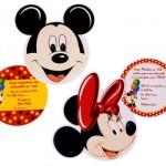 Mickey e Minnie inspiraram os convites. (Foto:Divulgação)
