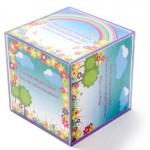Convite no formato de cubo. (Foto:Divulgação)