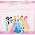 Convites para a festa com tema Princesas da Disney. (Foto:Divulgação)