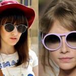 Óculos colorido e com armação redonda. (Foto:Divulgação)