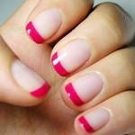 Pontas das unhas pintadas de rosa. (Foto:Divulgação)