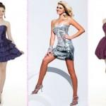 Opções de vestidos curtos para usar na formatura. (Foto:Divulgação)