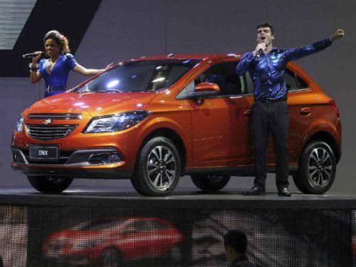 O GM Onix, novo compacto da montadora, foi uma das estrelas do Salão do Automóvel de São Paulo 2012 (Foto: Divulgação)