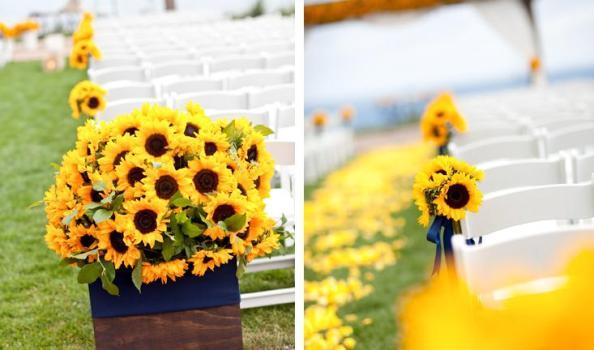 Girassol combina com a decoração de casamento ao ar livre. (Foto:Divulgação)