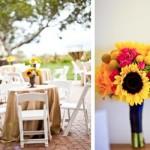Casamento ao ar livre decorado com girassóis. (Foto:Divulgação)