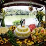 Mesa de casamento com tema girassol. (Foto:Divulgação)