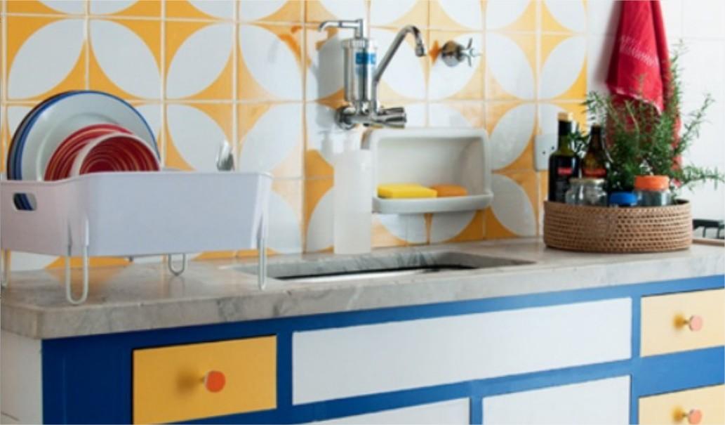 Adesivos para armário e parede da cozinha