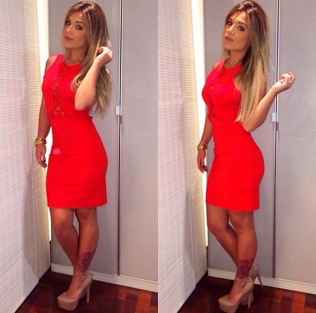 Vestido vermelho lindo para o Natal (Foto: Divulgação)