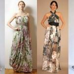 Vários modelos de vestidos longos podem ser usados no verão. (Foto: divulgação)