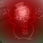 Boneco de neve desenhado na bola (Foto: Divulgação)