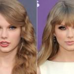 A franja poderosa de Taylor Swift destaca o olhar. (Foto:Divulgação)