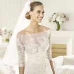 Vestido de noiva com manguinha 3/4. (Foto:Divulgação)