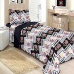 Um lindo modelo de roupa de cama do Corinthians. (Foto:Divulgação)