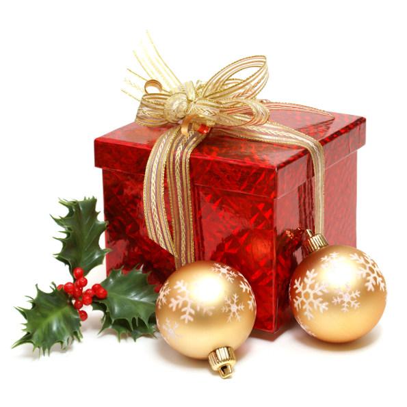 Presente e bolas de natal