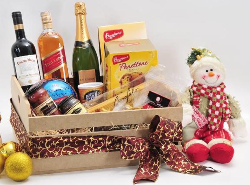 Cesta de Natal, com produtos simples (Foto: Divulgação)