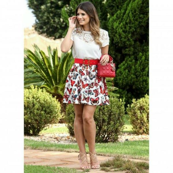 Roupas elegantes para o verão saias 1