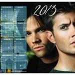 Calendário Supernatural 2013. (Foto:Divulgação)