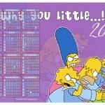 Calendário Os Simpsons 2013. (Foto:Divulgação)