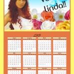 Calendário 2013 personalizado. (Foto:Divulgação)