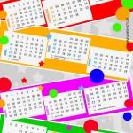 Calendário colorido 2013. (Foto:Divulgação)