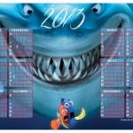 Calendário do filme Nemo 2013. (Foto:Divulgação)