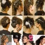 Os cabelos afro soltos também ficam bonitos como penteados. (Foto: divulgação)