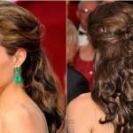 Os cabelos semi presos ficam muito bonitos para madrinhas. (Foto: divulgação)