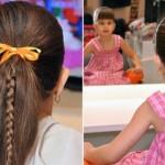 Vários modelos de penteados infantis podem ser criados. (Foto: divulgação)