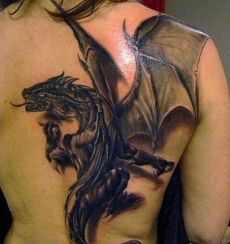 As tatuagens de dragão estão entre as mais usadas, tanto pelos homens quanto pelas mulheres (Foto: Divulgação)