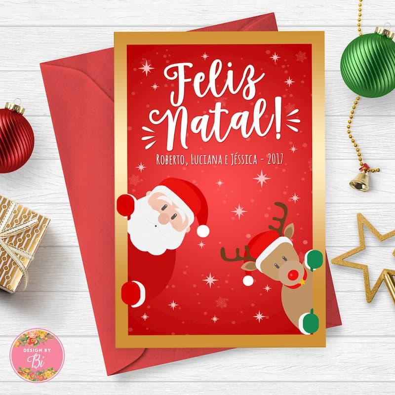 Modelos de Cartão de Natal para Imprimir