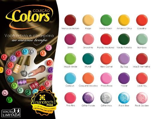 Coleção de esmaltes Colors da Cora