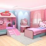 Quarto de menina com tema Hello Kitty. (Foto:Divulgação)