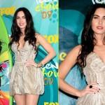 Vestido curto de Megan Fox. (Foto:Divulgação)