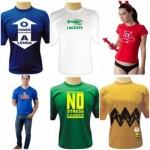 As camisetas divertidas podem ser usadas com várias outras peças de roupas. (Foto: divulgação)
