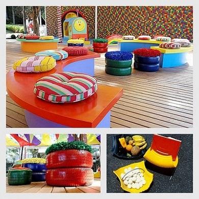 Reaproveite pneus na decoração da sua casa (Foto: Divulgação)