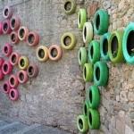 Decoração de parede com pneus (Foto: Divulgação)