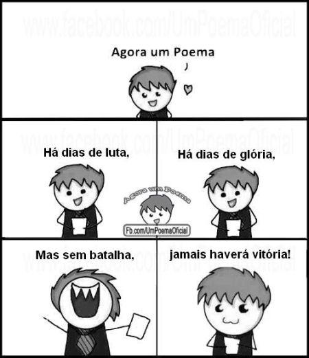 """O meme """"Agora um Poema"""" é o mais novo sucesso do Facebook (Foto: Divulgação)"""
