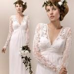 O crochê pode aparecer nos detalhes da manga do vestido. (Foto:Divulgação)