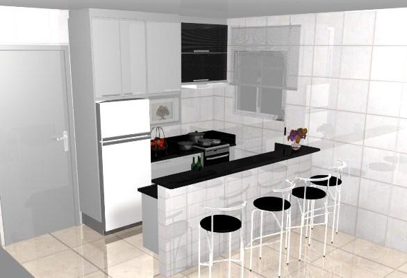 Kit Cozinha Pequena - Cozinhas Planejadas Pequenas  Mais de 150 Fotos  MundodasTribos – Todas as