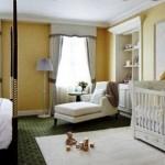 O quarto do bebê pode ser feito junto com o do casal. (Foto: divulgação)