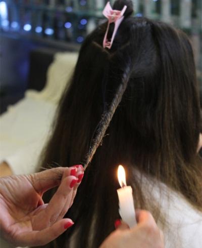 Velaterapia para cabelos, passo a passo