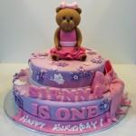 Ursa bailarina cheia de estilo no bolo.  (Foto:Divulgação)