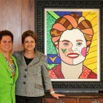 Pintura inspirada em Dilma Rousseff. (Foto:Divulgação)