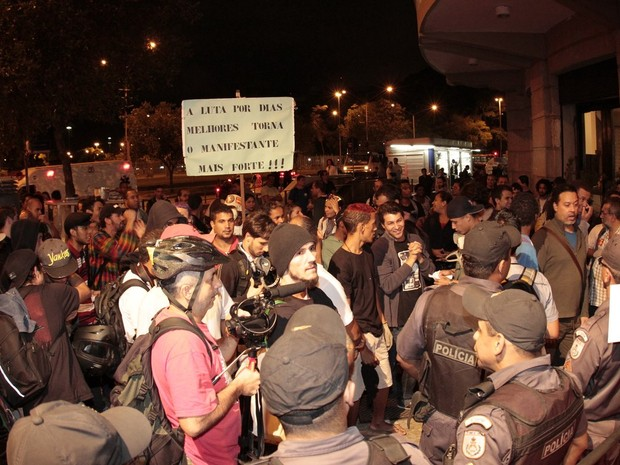 Manifestações causam tumulto em festival no Rio (Foto: Divulgação)